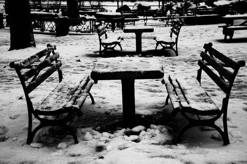New York City, Manhattan, Chinatown, Winter, Snow